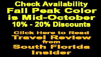 Chattanooga Fall Color Peak Mid-October Specials