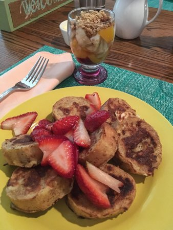 French Toast & Fruit Parfait St Francis Cottage
