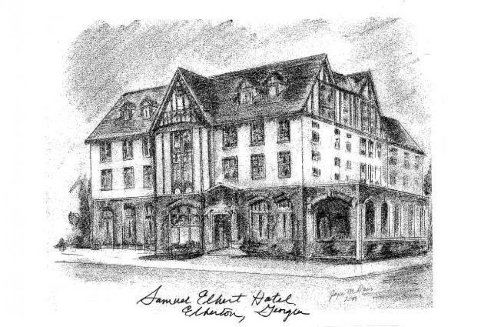 Historic drawing of Elbert Hotel