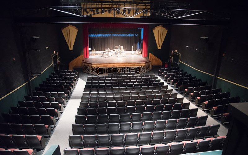 Theatre auditorium with stage