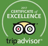 TripAdvisor Certificate of Excellence 7 years