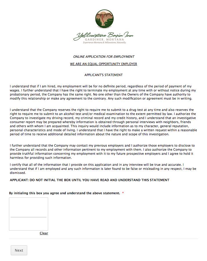 Summer Jobs near Yellowstone Park, how to apply