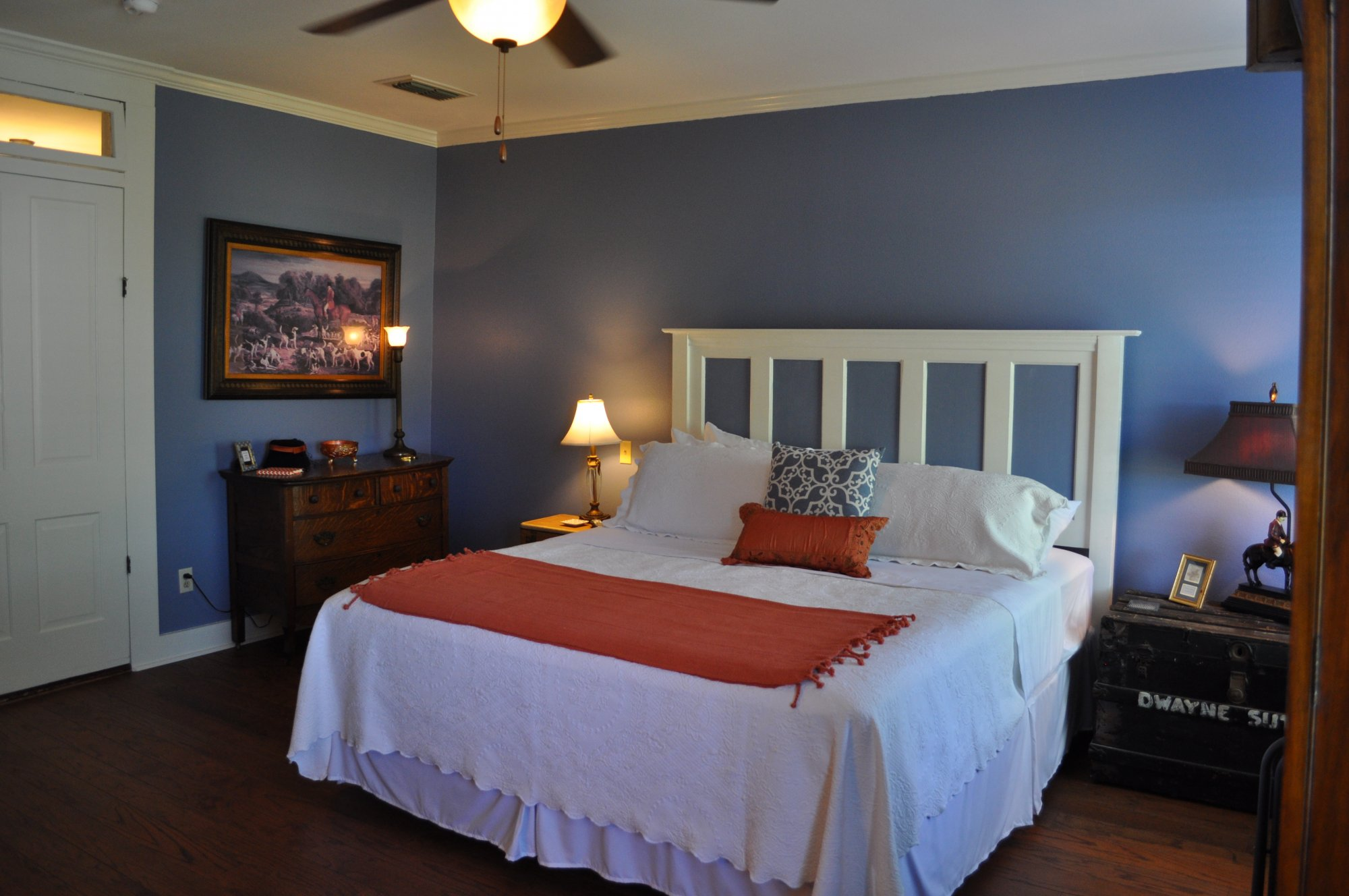 This Spacious Room On The East Side Of The Home Upstairs Overlooks The  Backyard, Is Draped In Blue And Named After Mrs. Kennedyu0027s Grandson. The  Room ...
