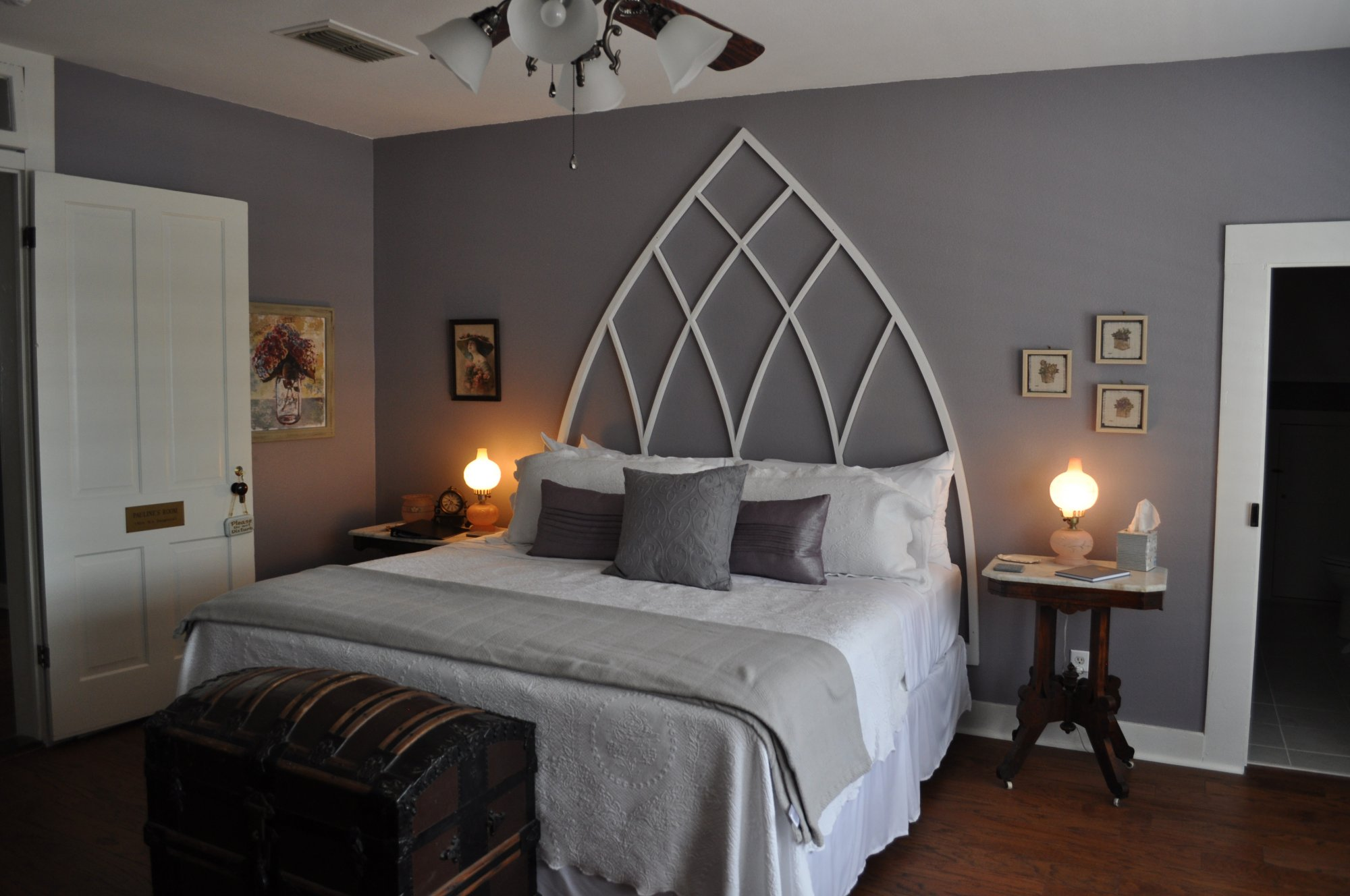 The Largest Room Upstairs Facing The Historic Downtown Area, This Room Was  Named After Mrs. Kennedyu0027s Daughter. Painted In Hues Of A Purple Gray, The  Room ...