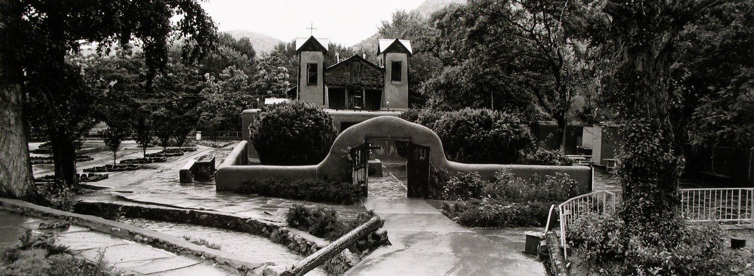 black and white photo of Chimayo