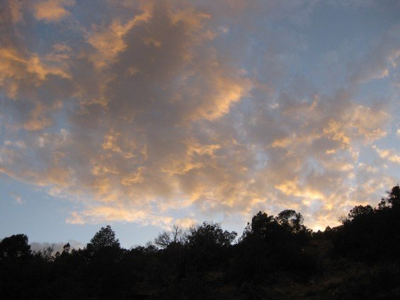 Sunset in the Ortiz Preserve