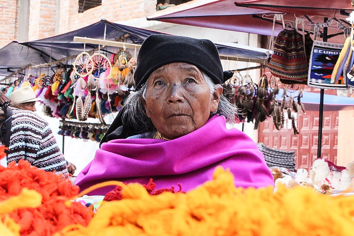 Native woman at Indian market