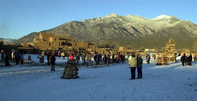 Christmas at the Taos Pueblo