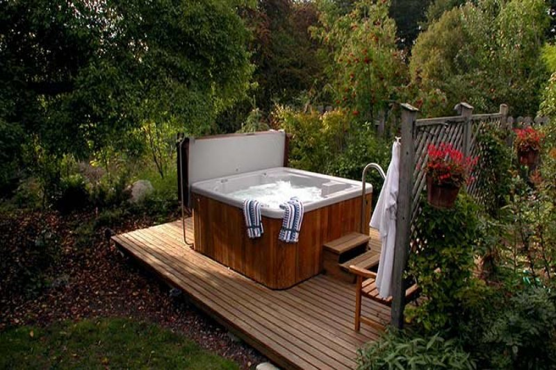 An Outdoor Hot Tub