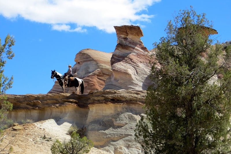 Paria River Ranch Horseback Riding near Lake Powell