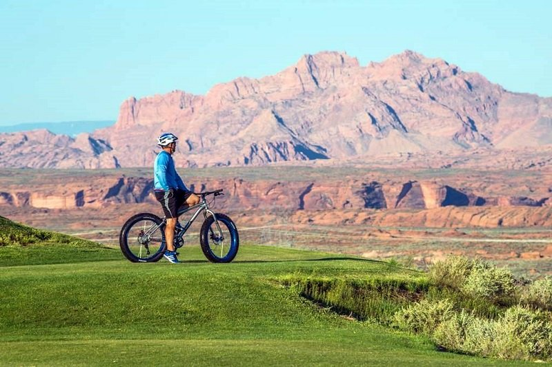 Fat tire bike rentals at Lake Powell