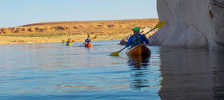 Kayakers on Lake Powell