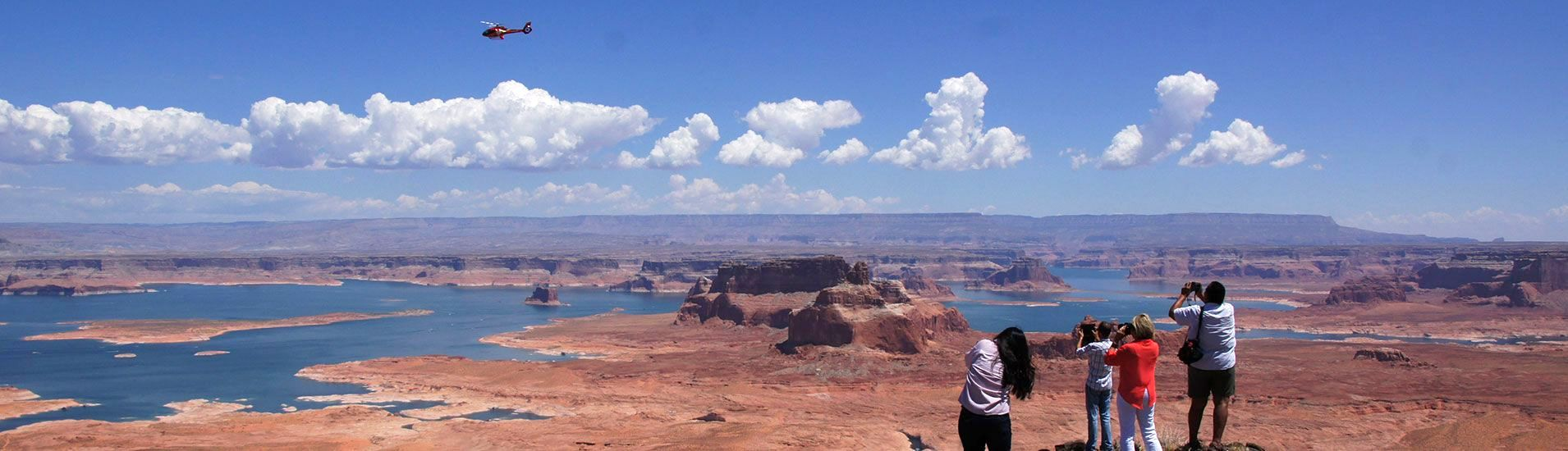 TOWER BUTTE LANDING WITH HORSESHOE BEND