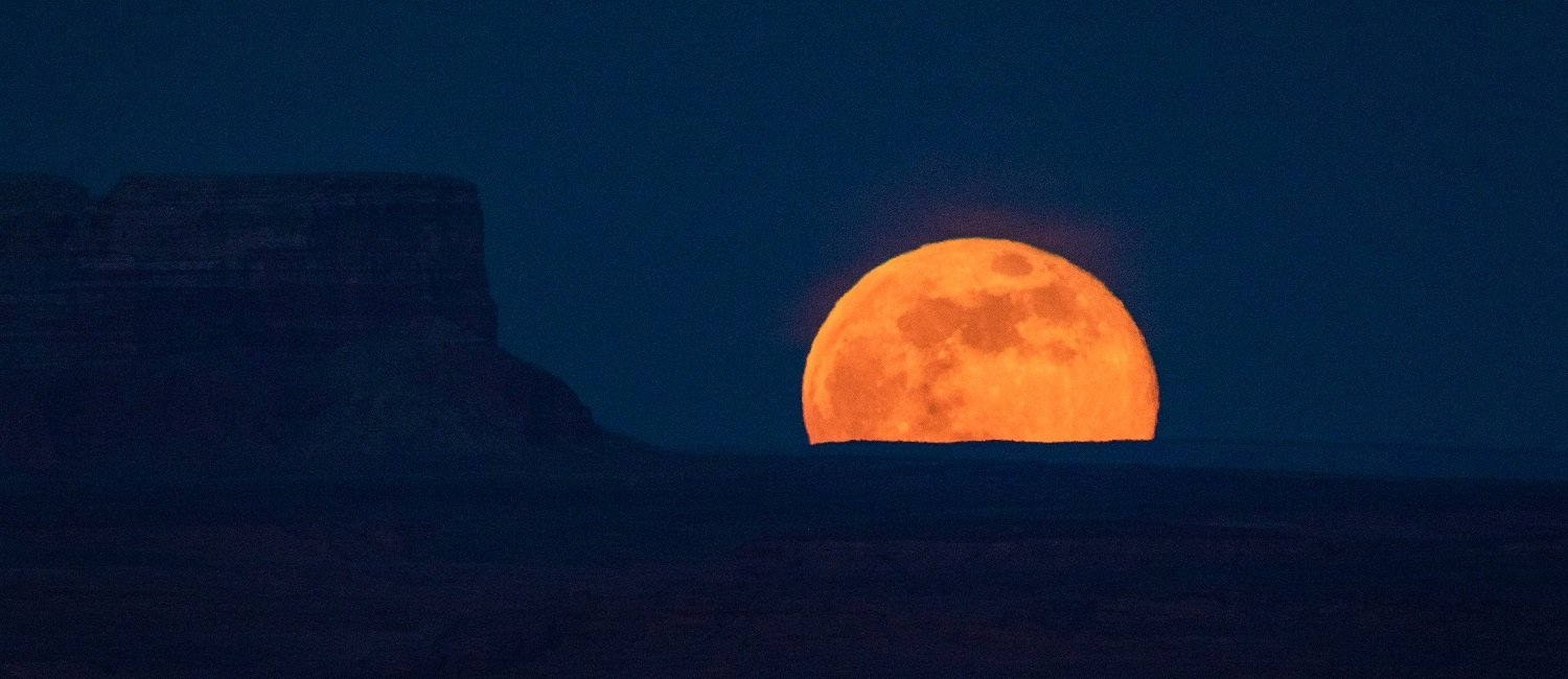 Full Moon rising over the Grand Staircase Escalante National Monument