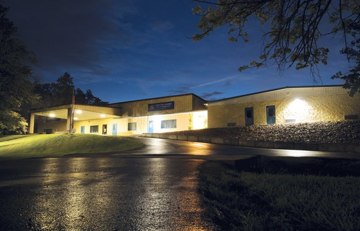 Photo of Christian Academy of the Cumberlands in Crossville, Tennessee, at night
