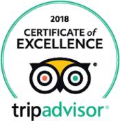 2018 Certificate of Excellence - TripAdvisor