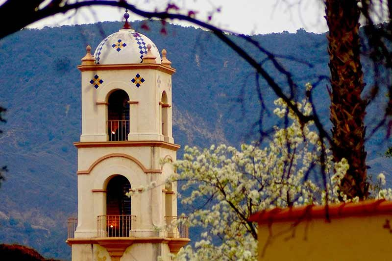 A mission style bell tower