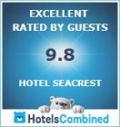 Hotel Seacrest 9.8 rating on Hotels Combined