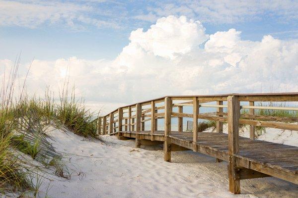 Hotel Seacrest beach bridge