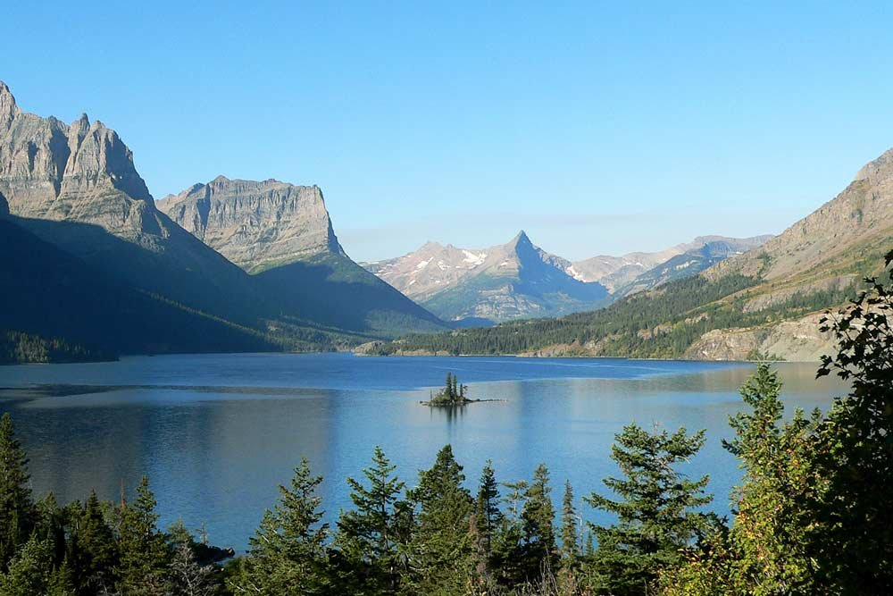 St. Mary Lake, located in Glacier National Park
