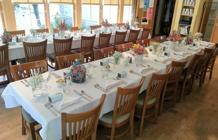 Ipswich Inn Special Occasions Events table setup