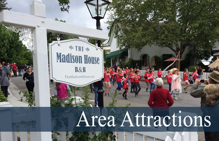 Area Attractions Madison House Bed and Breakfast sign parade