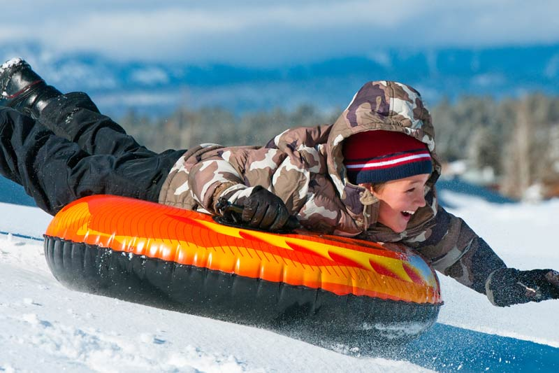 Sledding at White Mountains Adventures