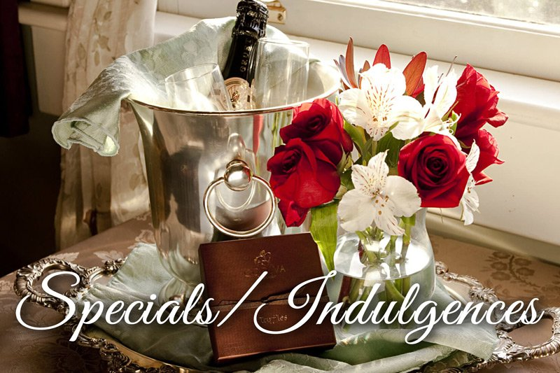 Summer Creek Inn Specials and Indulgences flowers and champagne