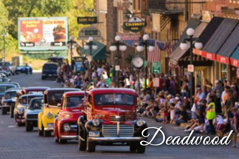 Deadwood parade of clasic cars