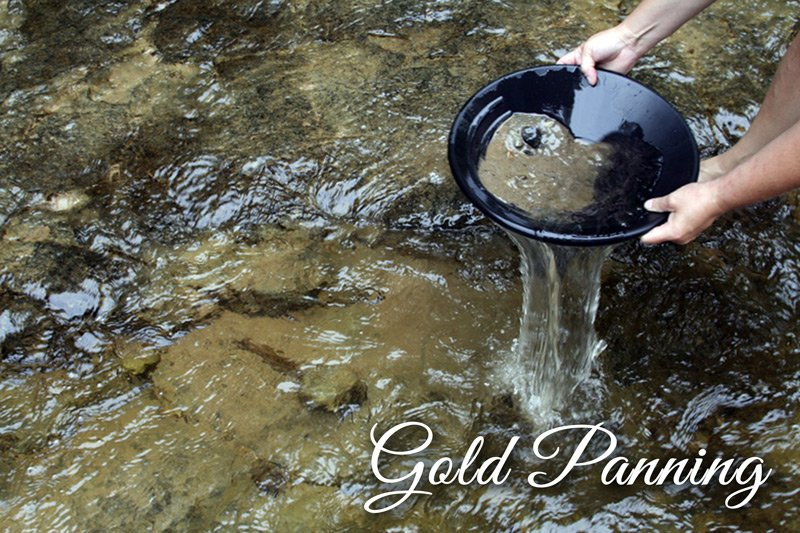 Gold Panning in river