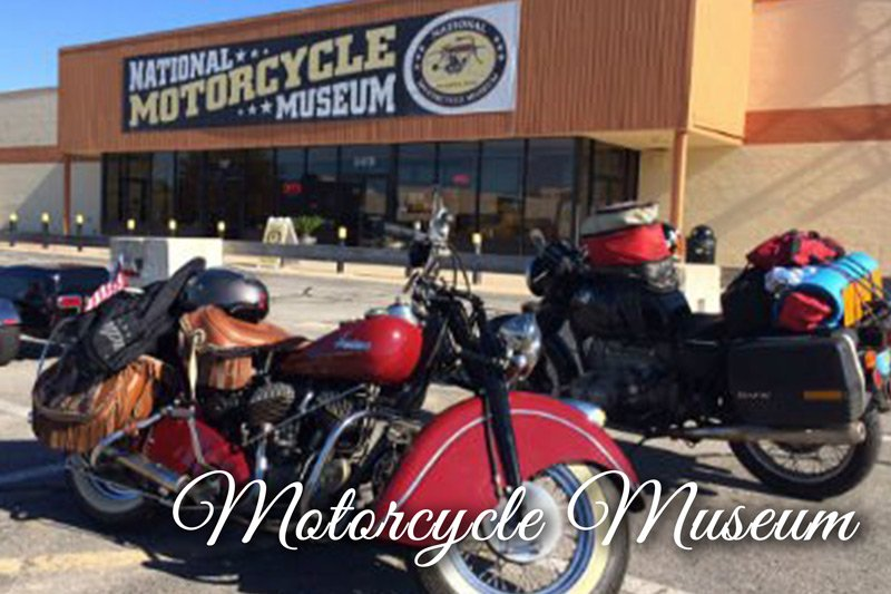 Motorcycles outside the motorcycle museum