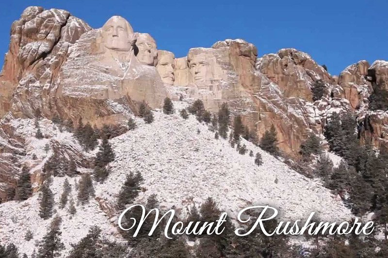 Mount Rushmore winter snow