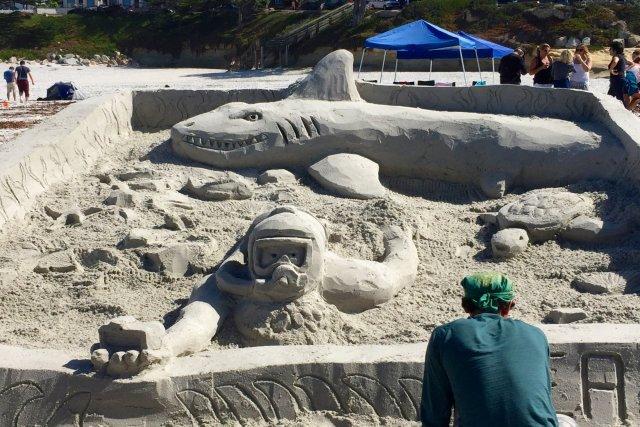 Carmel Beach Sand Castle Contest
