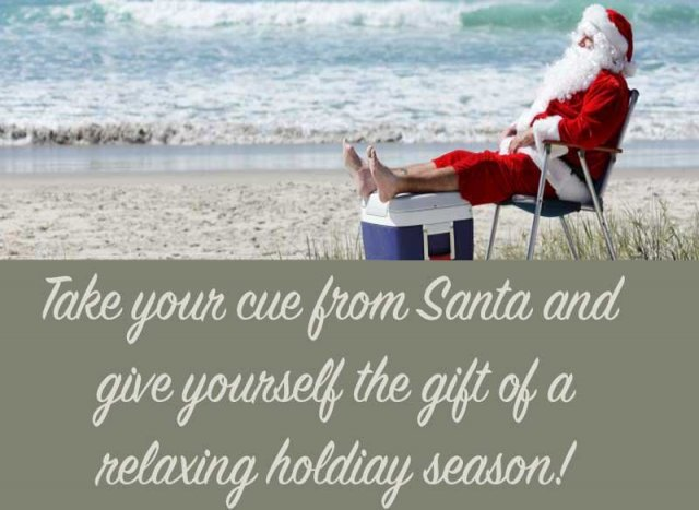 Santa on Carmel Beach