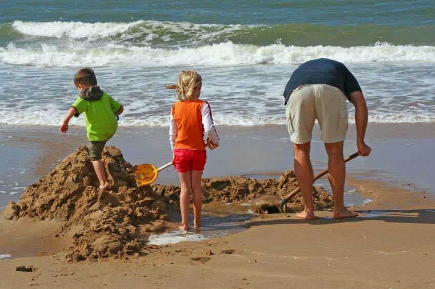 Family on Carmel-by-the-Sea Beach