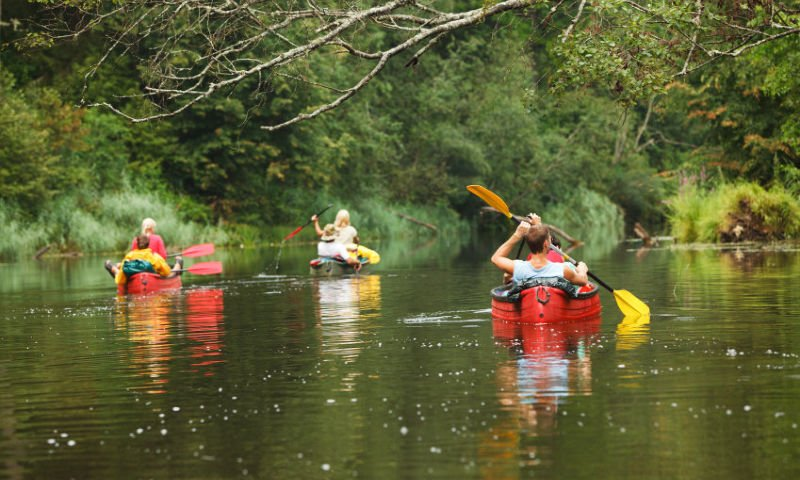 canoeing on saco river