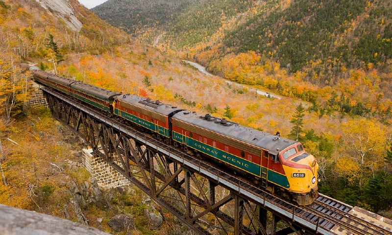conway train fall foliage
