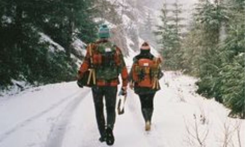 A couple Winter hiking