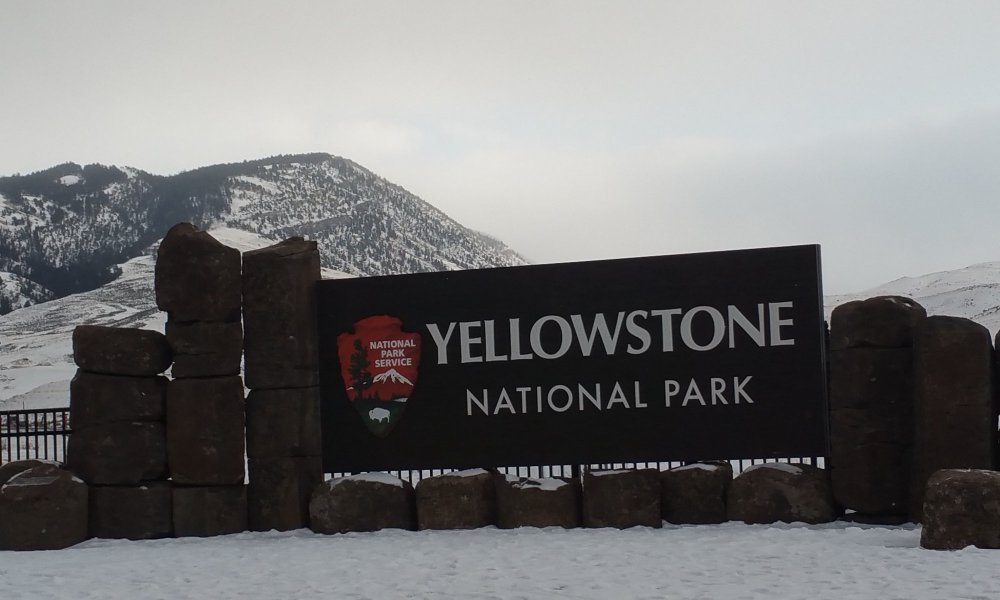 Yellowstone National Park National Park Service Sign