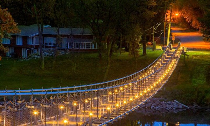 Souris Hotel Area Attractions Souris Swinging Bridge