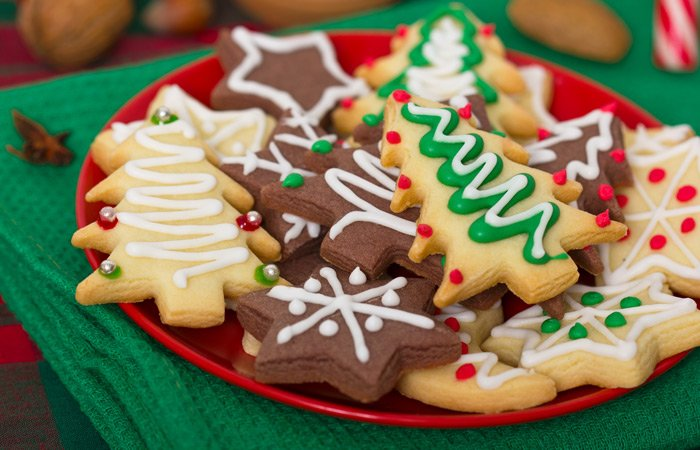 White Birch Inn plate of holiday Christmas cookies
