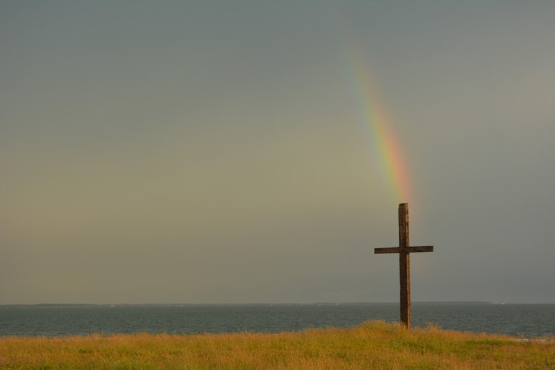 Black Walnut Point Inn Cross rainbow