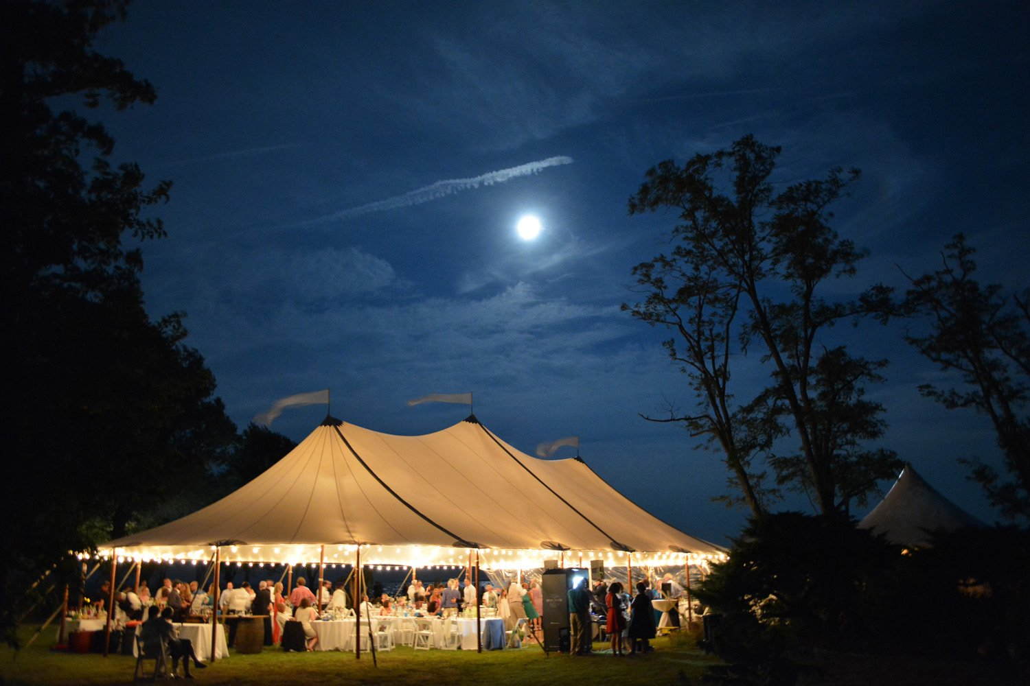 Black Walnut Point Inn Weddings Event Tent at Night