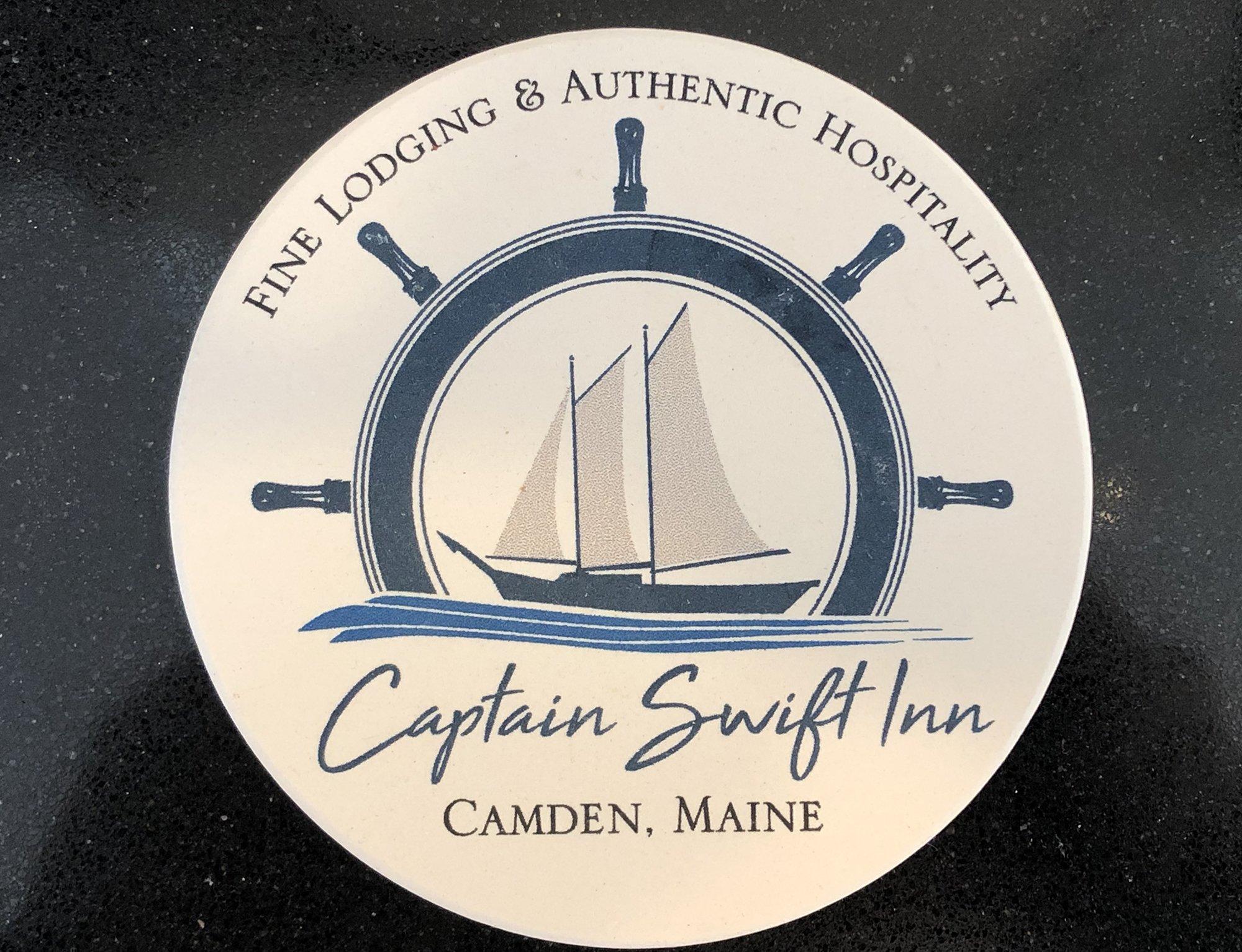 coaster with Captain Swift logo