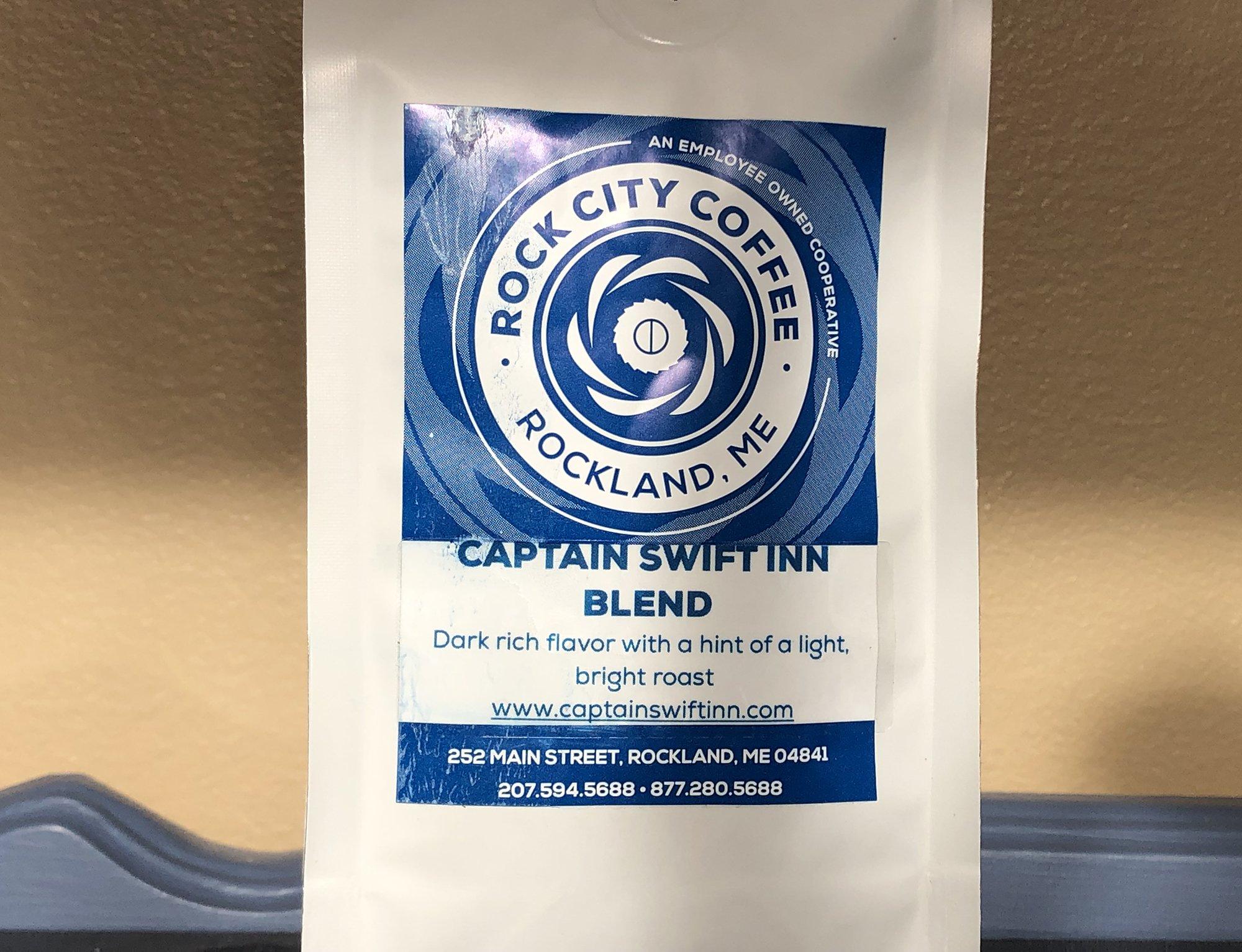 bag of custom coffee