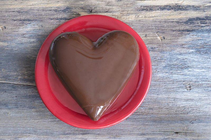 Chocolate Heart on a plate