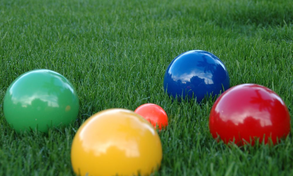 Bocce Balls on the lawn