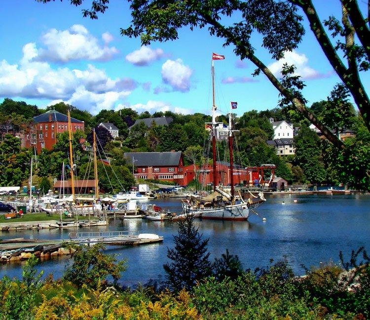 Rockport Harbor full of ships