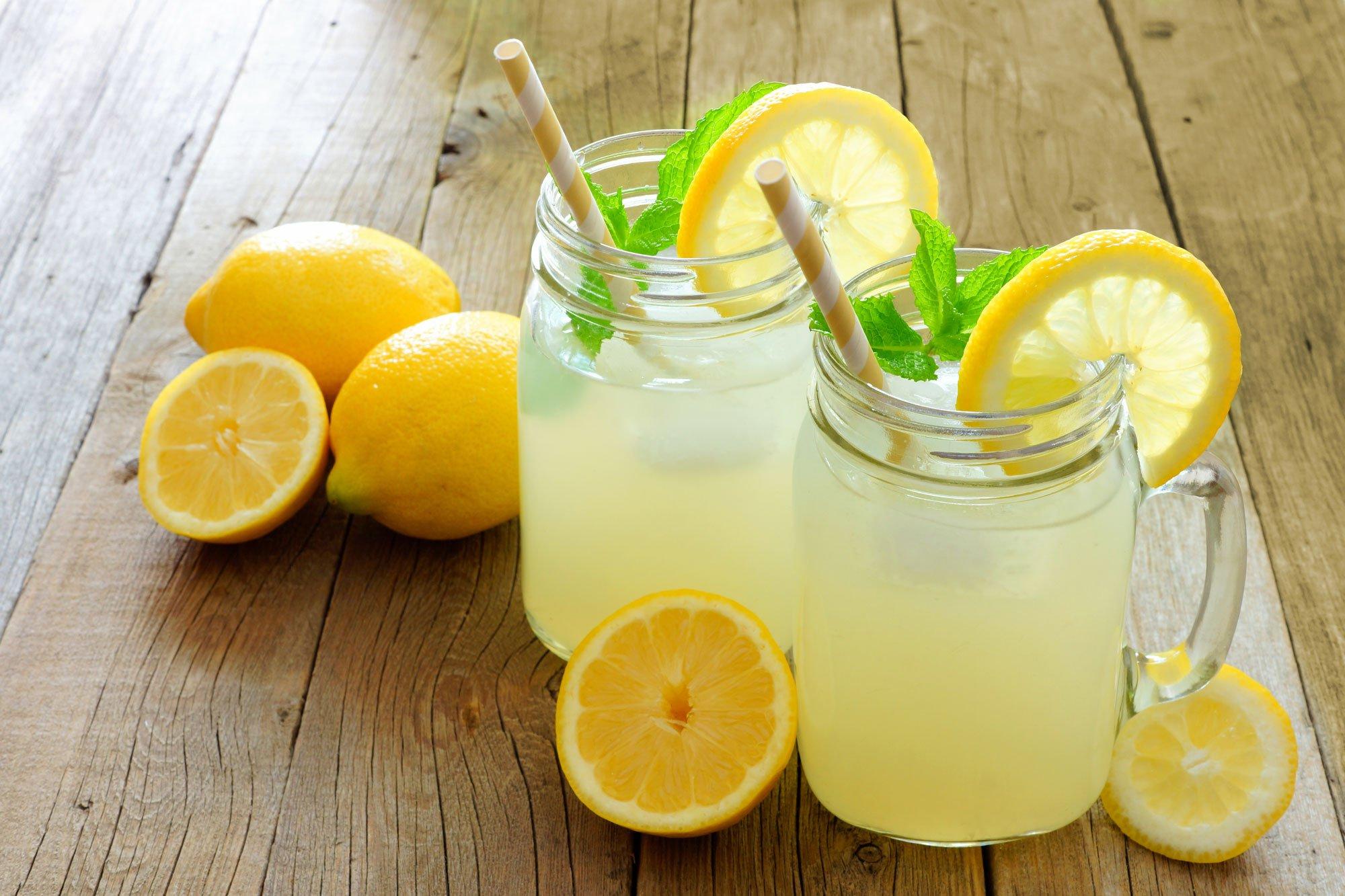 Two Glasses Of Lemonade