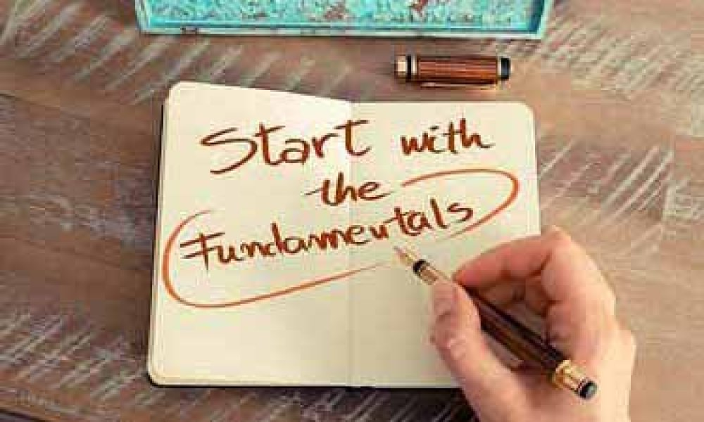 A note that says Start with the Fundamentals